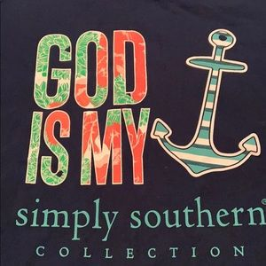 Simply Southern Large God Is My Anchor Large